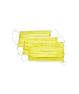 Маски трехслойные желтые 50 шт